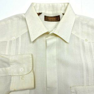 Yves Saint Laurent YSL Guayabera VTG Button Up L *